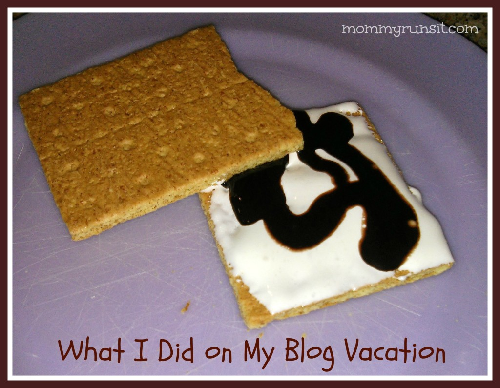 What I Did on My Blog Vacation | Mommy Runs It