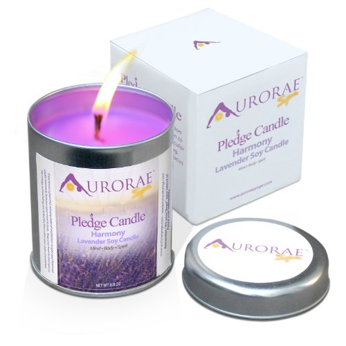 Aurorae Yoga 100% Soy Wax Pledge Candle | Mommy Runs It