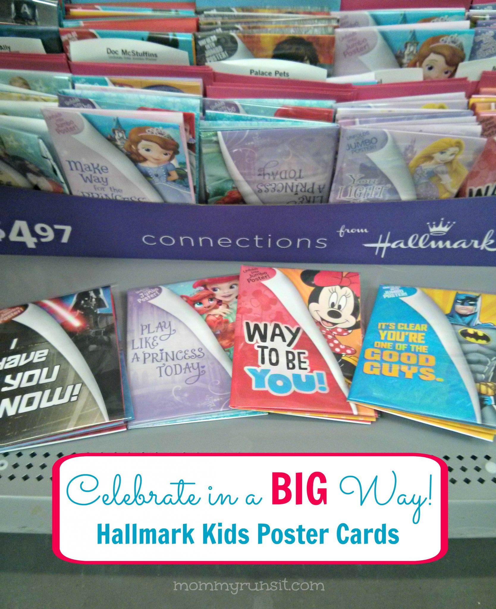 Hallmark Poster Cards for Kids | Mommy Runs It #shop #kidscards #cbias