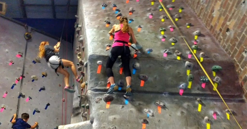 Our Indoor Rock Climbing Gym Adventure + Climbing After a Spinal Fusion | Mommy Runs It