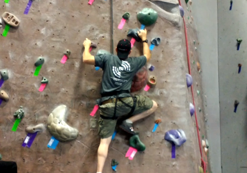 Our Indoor Rock Climbing Gym Adventure   Mommy Runs It